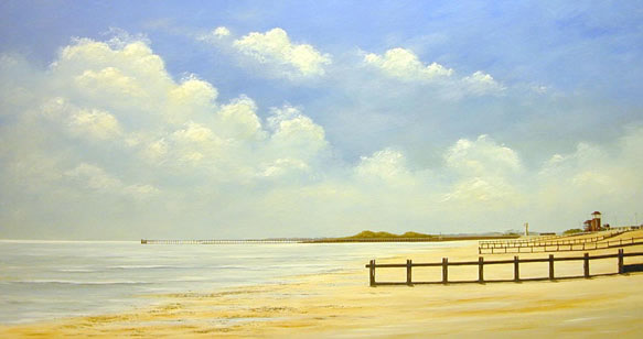 acrylic painting tutorial 4 Морской пейзаж