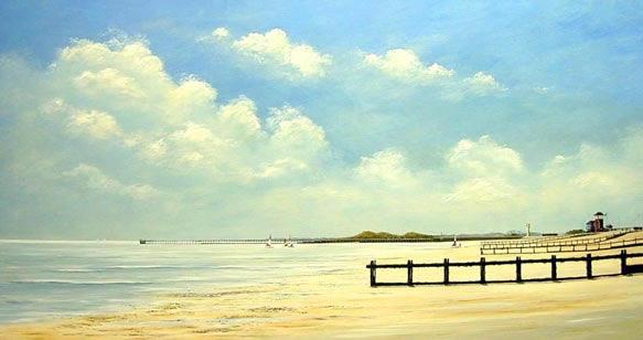 acrylic painting tutorial 5 Морской пейзаж