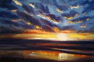 painting sunset oils 6 300x200 Как рисовать закат. Урок от Джины де Горно