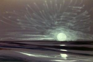 sunset painting demonstration 31 300x200 Как рисовать закат. Урок от Джины де Горно