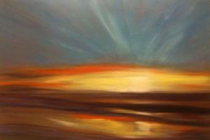 sunset painting instructions 5 300x200 Как рисовать закат. Урок от Джины де Горно