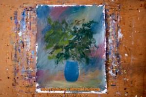 flowers art lesson 4 300x199 Как нарисовать букет цветов маслом