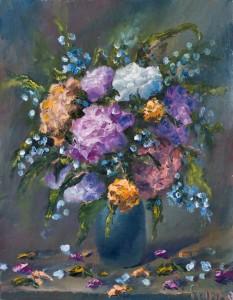 flowers in vase 328 233x300 Как нарисовать букет цветов маслом