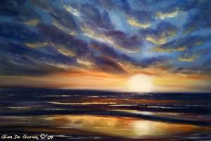 oil painting tutorial 9 300x200 Как рисовать закат. Урок от Джины де Горно
