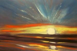 sunset painting lesson 4 300x200 Как рисовать закат. Урок от Джины де Горно