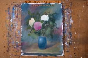 flowers art lesson 6 300x199 Как нарисовать букет цветов маслом